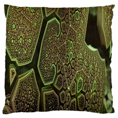 Fractal Complexity 3d Dimensional Large Flano Cushion Case (Two Sides)