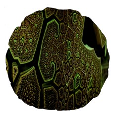 Fractal Complexity 3d Dimensional Large 18  Premium Flano Round Cushions