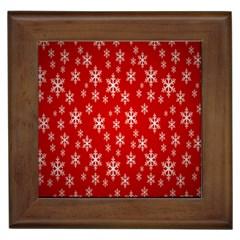 Christmas Snow Flake Pattern Framed Tiles