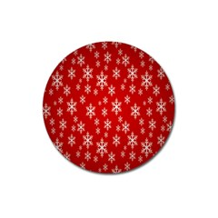Christmas Snow Flake Pattern Magnet 3  (Round)