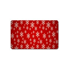 Christmas Snow Flake Pattern Magnet (Name Card)
