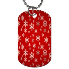 Christmas Snow Flake Pattern Dog Tag (One Side)