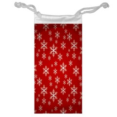 Christmas Snow Flake Pattern Jewelry Bag