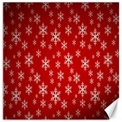 Christmas Snow Flake Pattern Canvas 12  x 12