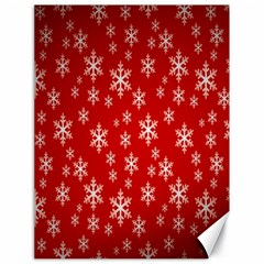 Christmas Snow Flake Pattern Canvas 18  x 24