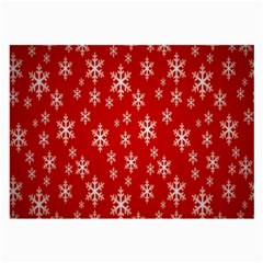 Christmas Snow Flake Pattern Large Glasses Cloth