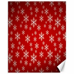 Christmas Snow Flake Pattern Canvas 11  x 14