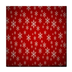 Christmas Snow Flake Pattern Face Towel