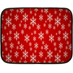 Christmas Snow Flake Pattern Double Sided Fleece Blanket (Mini)