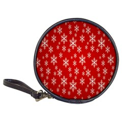 Christmas Snow Flake Pattern Classic 20-CD Wallets