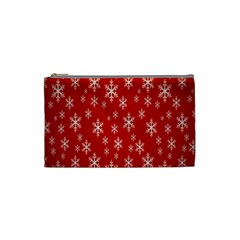 Christmas Snow Flake Pattern Cosmetic Bag (Small)