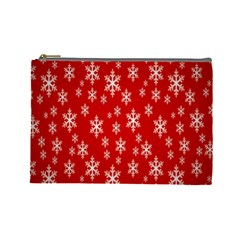 Christmas Snow Flake Pattern Cosmetic Bag (Large)