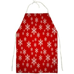 Christmas Snow Flake Pattern Full Print Aprons