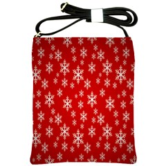 Christmas Snow Flake Pattern Shoulder Sling Bags