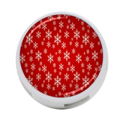 Christmas Snow Flake Pattern 4 Port Usb Hub (two Sides)
