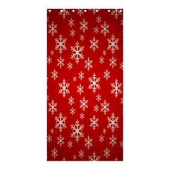 Christmas Snow Flake Pattern Shower Curtain 36  x 72  (Stall)