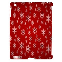 Christmas Snow Flake Pattern Apple Ipad 3/4 Hardshell Case (compatible With Smart Cover)