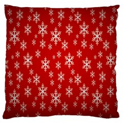 Christmas Snow Flake Pattern Large Cushion Case (Two Sides)
