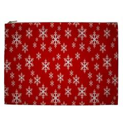 Christmas Snow Flake Pattern Cosmetic Bag (XXL)