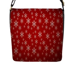 Christmas Snow Flake Pattern Flap Messenger Bag (L)