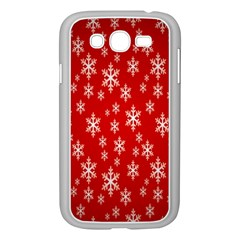 Christmas Snow Flake Pattern Samsung Galaxy Grand DUOS I9082 Case (White)