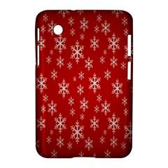 Christmas Snow Flake Pattern Samsung Galaxy Tab 2 (7 ) P3100 Hardshell Case