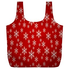 Christmas Snow Flake Pattern Full Print Recycle Bags (l)