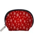 Christmas Snow Flake Pattern Accessory Pouches (Small)  Front
