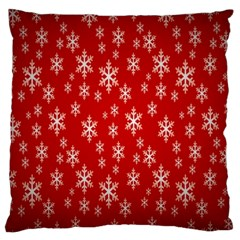 Christmas Snow Flake Pattern Large Flano Cushion Case (Two Sides)