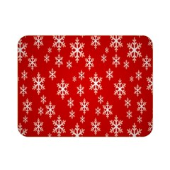 Christmas Snow Flake Pattern Double Sided Flano Blanket (Mini)