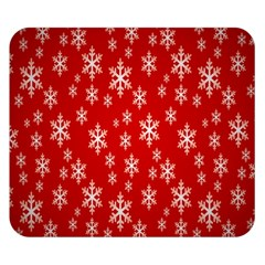 Christmas Snow Flake Pattern Double Sided Flano Blanket (Small)