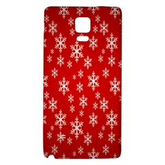 Christmas Snow Flake Pattern Galaxy Note 4 Back Case