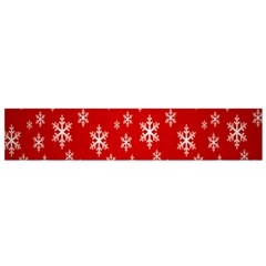 Christmas Snow Flake Pattern Flano Scarf (small)