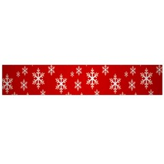 Christmas Snow Flake Pattern Flano Scarf (large)