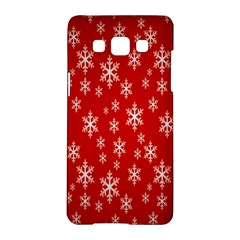 Christmas Snow Flake Pattern Samsung Galaxy A5 Hardshell Case