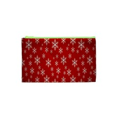 Christmas Snow Flake Pattern Cosmetic Bag (xs)