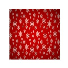 Christmas Snow Flake Pattern Small Satin Scarf (square)