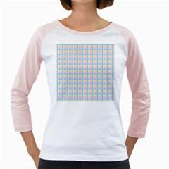 Grid Squares Texture Pattern Girly Raglans