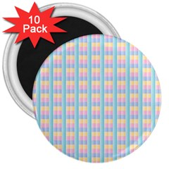 Grid Squares Texture Pattern 3  Magnets (10 pack)