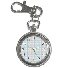 Grid Squares Texture Pattern Key Chain Watches