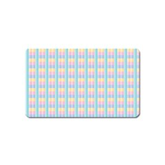 Grid Squares Texture Pattern Magnet (Name Card)
