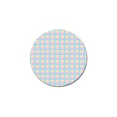 Grid Squares Texture Pattern Golf Ball Marker (10 Pack)
