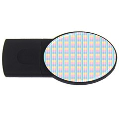 Grid Squares Texture Pattern USB Flash Drive Oval (2 GB)
