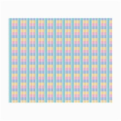 Grid Squares Texture Pattern Small Glasses Cloth