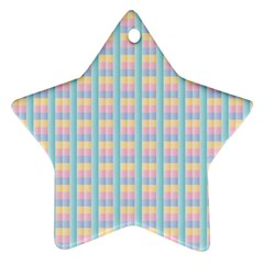 Grid Squares Texture Pattern Star Ornament (Two Sides)