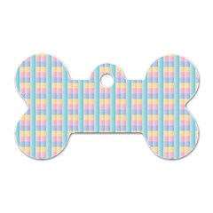 Grid Squares Texture Pattern Dog Tag Bone (One Side)