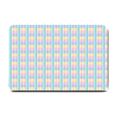 Grid Squares Texture Pattern Small Doormat