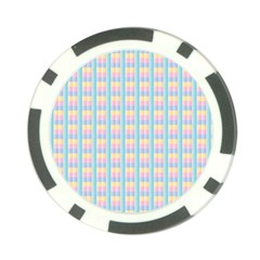 Grid Squares Texture Pattern Poker Chip Card Guard