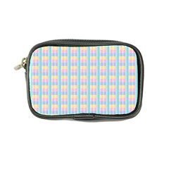 Grid Squares Texture Pattern Coin Purse