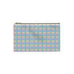 Grid Squares Texture Pattern Cosmetic Bag (Small)